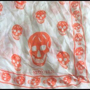 Silk Alexander Mcqueen Skull Pattern